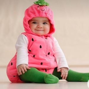 Carters Baby's Strawberry 🍓one piece Halloween Costume GUC size 3-6 months